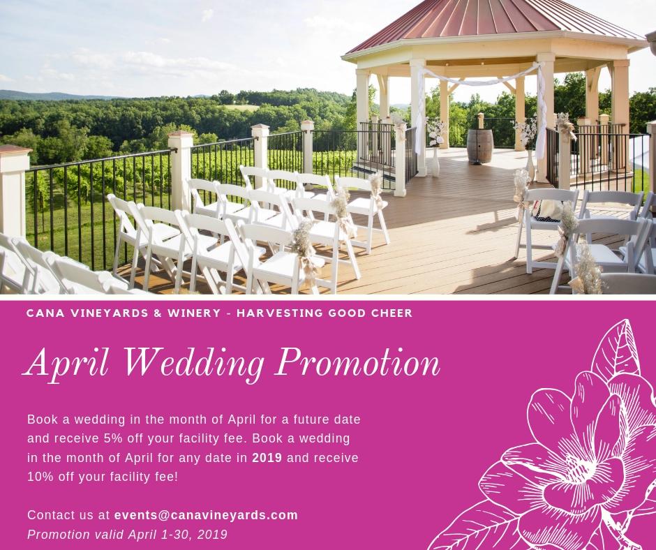 April Wedding Promo!